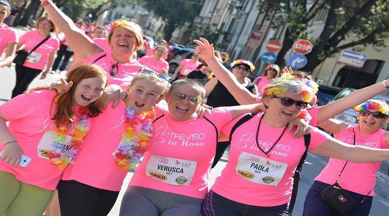 Treviso corre in rosa per la lotta contro i tumori