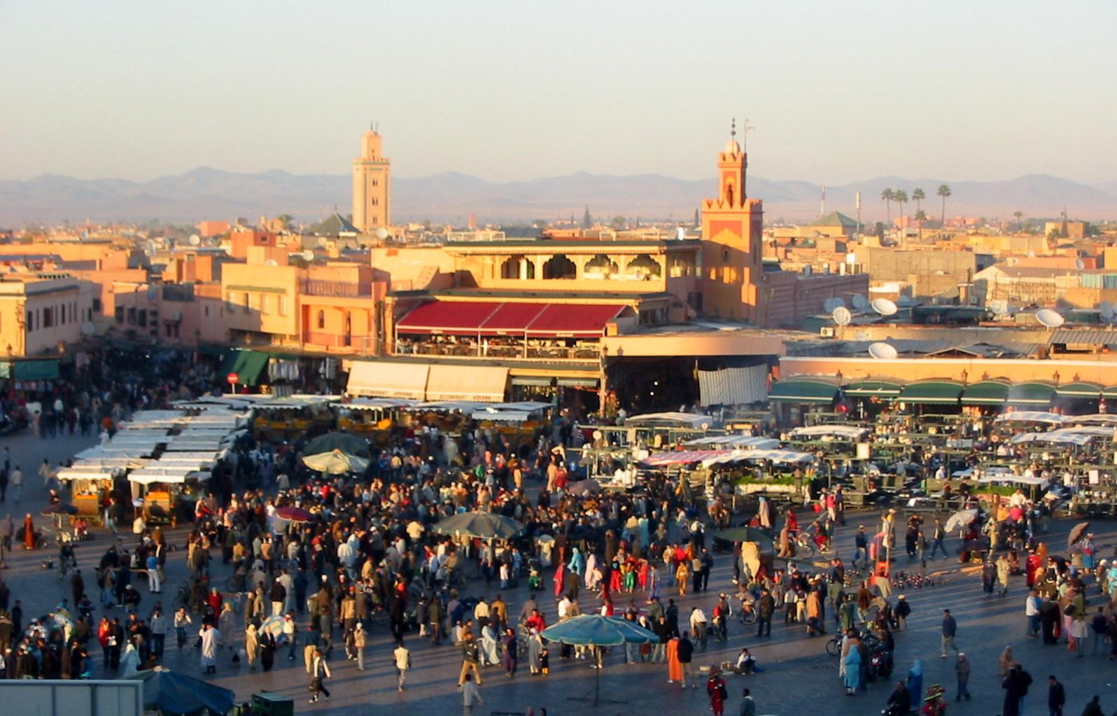 Marrakech piazza Djemaa el-Fna