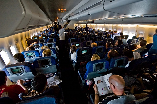 On board Flight QF2 from London Heathrow LHR to Bangkok Suvarnabhumi BKK