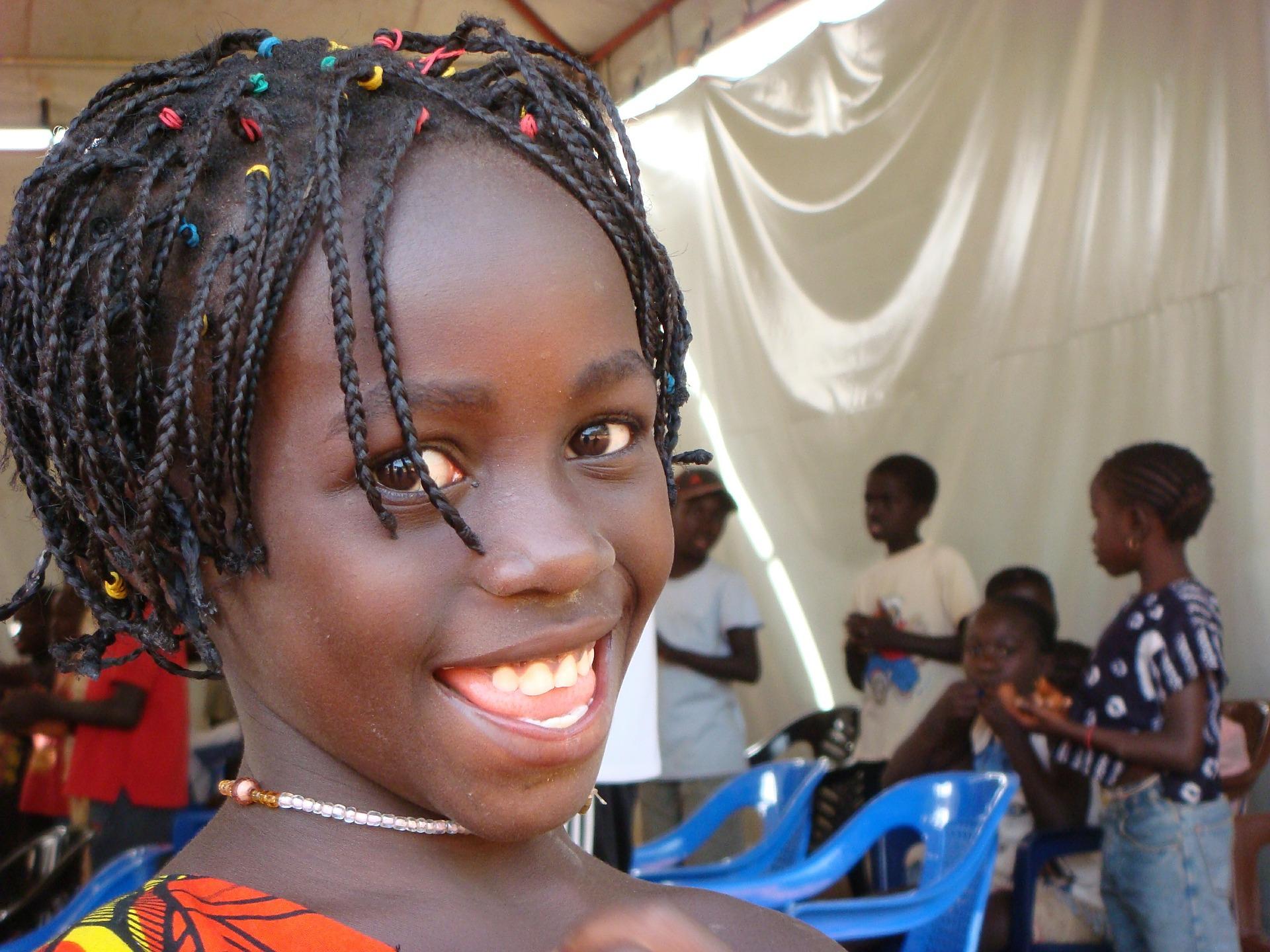 Guinea Bissau sorriso ragazza