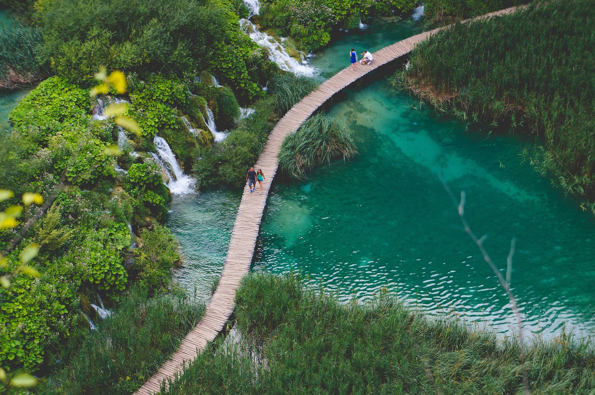 Laghi Plitvice passerella