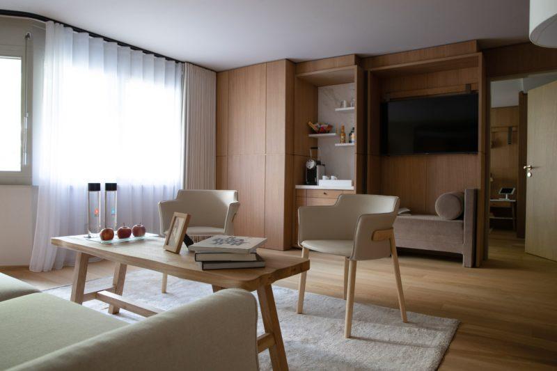 Interni in legno delle suite
