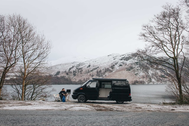 viaggiare in van in inverno