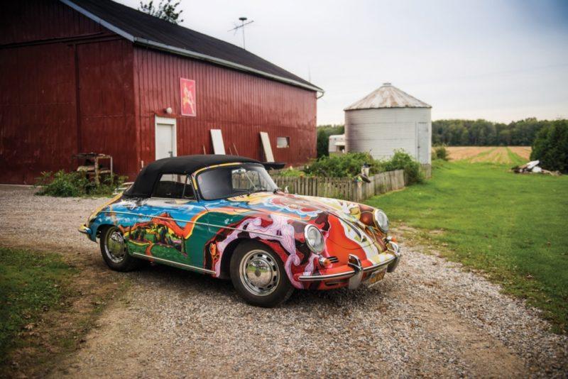 Porsche 365 con donna