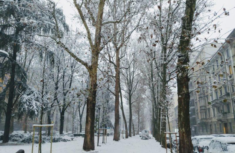 Com'è bella Milano sotto la neve