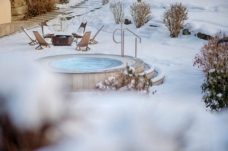 piscina nella neve di Alpen Palace