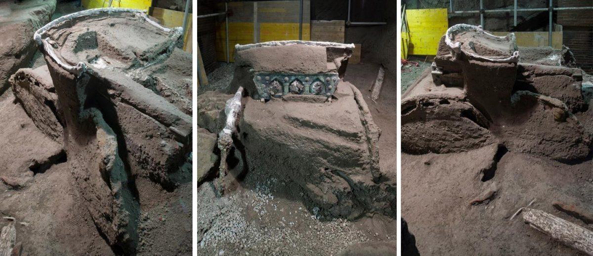 Pompei stupisce ancora: emerge intatto un intero carro da parata