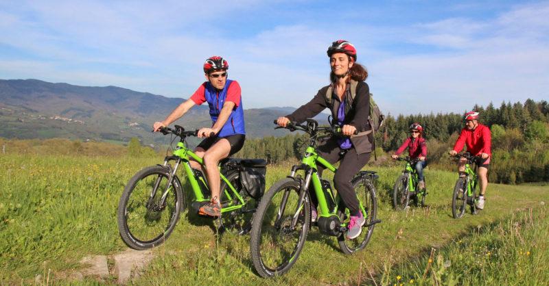 in bicicletta nel Parco delle Foreste Casentinesi