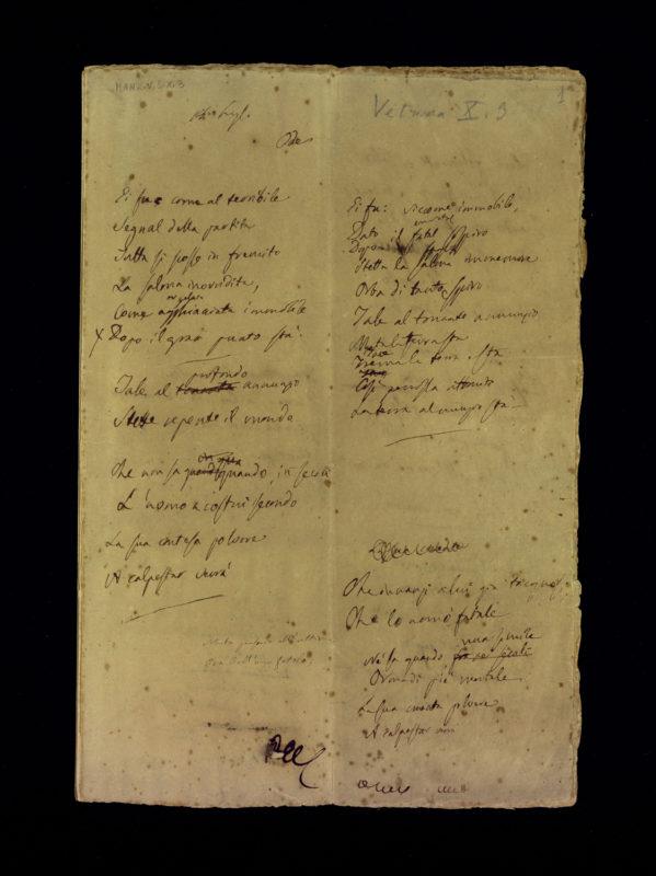 Prima-carta-della-minuta-autografa-del-5-maggio-Alessandro-Manzoni