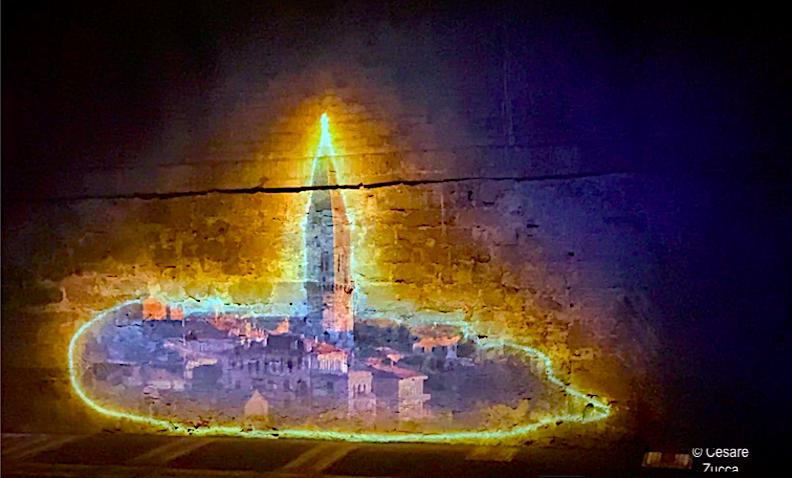 Un momento del magico video Perugia Folgora