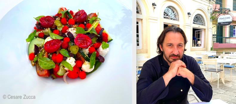 "Chef Aristotelis Megoulas e la sua fantasmagorica versione della ""greek salad"""